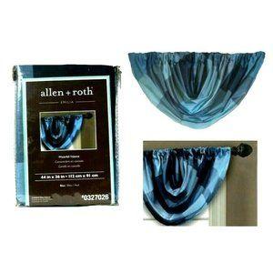 Allen + Roth Emilia Valance Curtains Blue